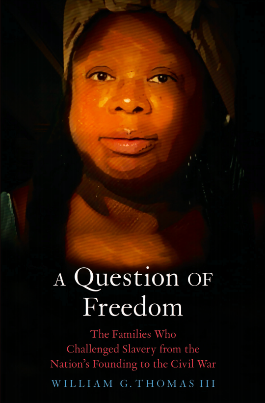 Image of book cover that links to press page for A Question of Freedom.